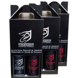 Tres estuches regalo de 2 botellas Enigma